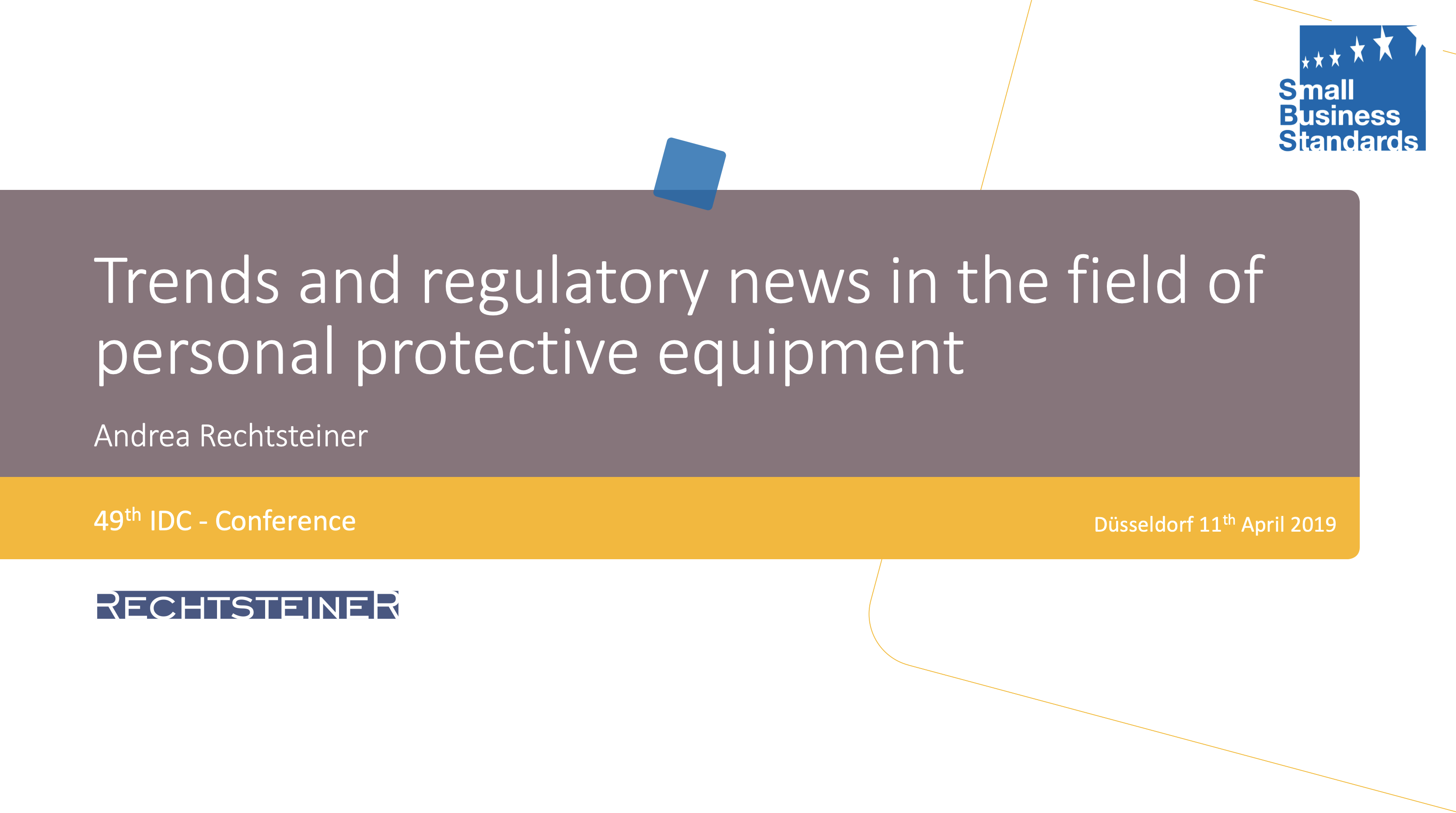 Trends and regulatory news in the field of personal protective equipment