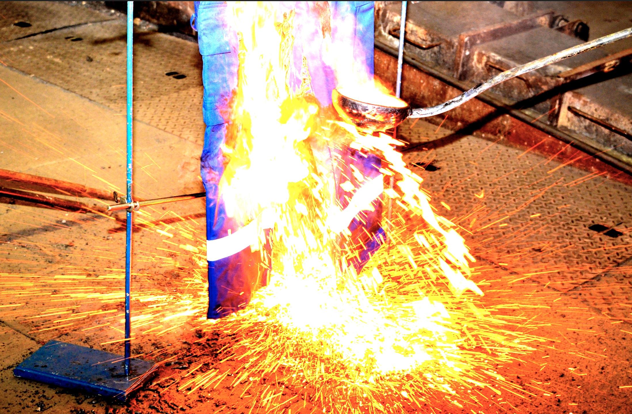 Hitze und Flamme